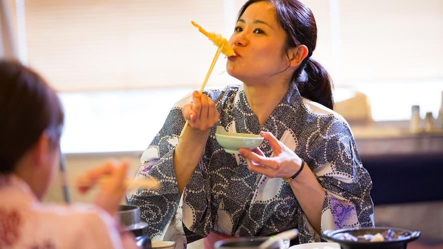 #天ぷらも美味しいよー♪