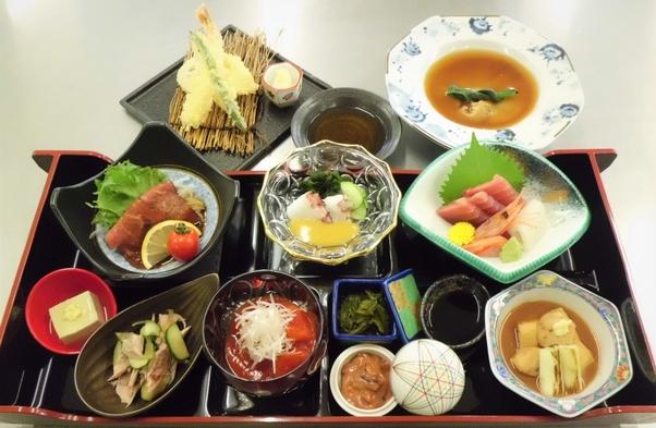 三陸の味を楽しむ夕食プラン《三陸コース+天ぷら+フカヒレ付》