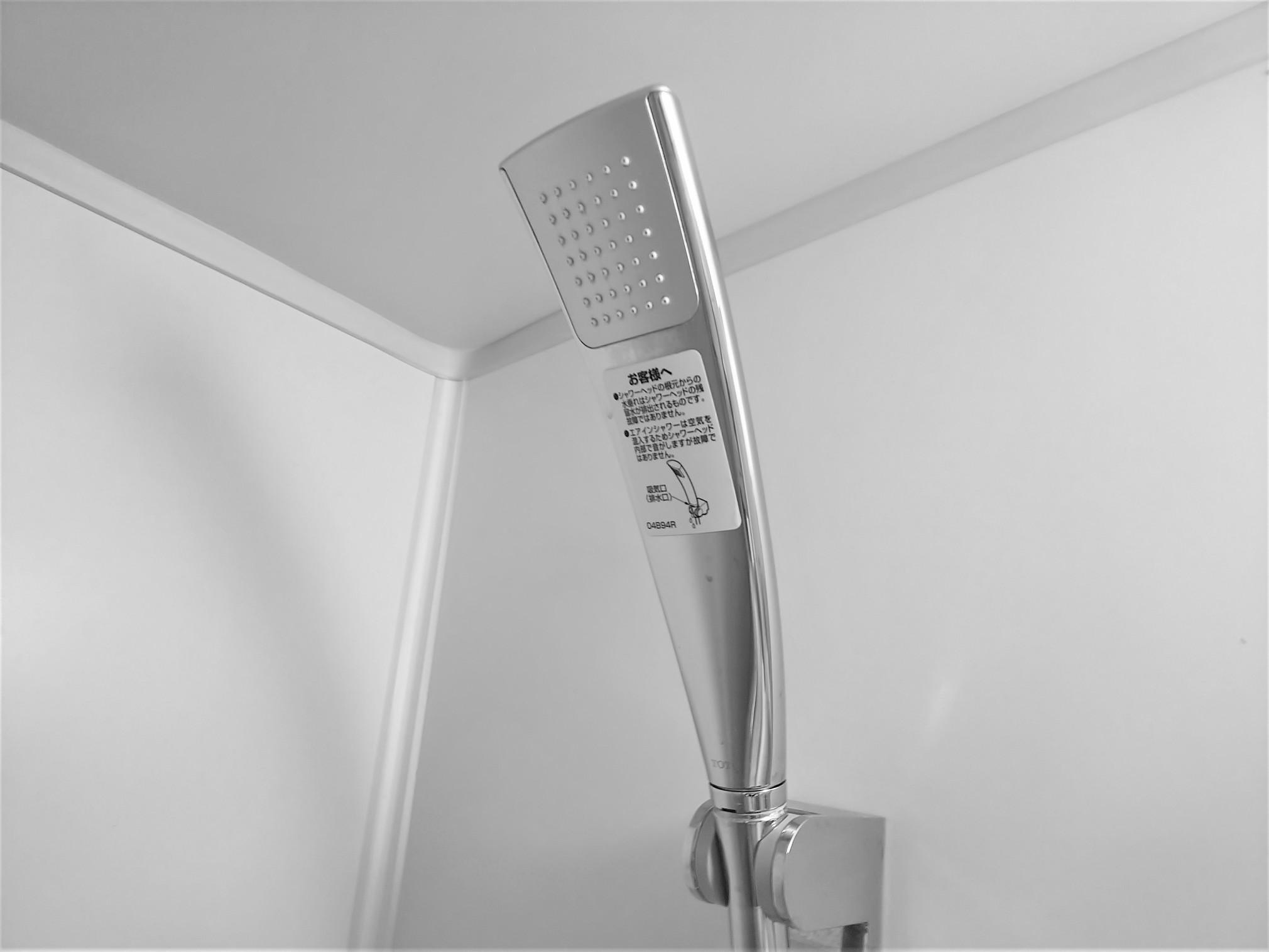 バスルームのエアインシャワー