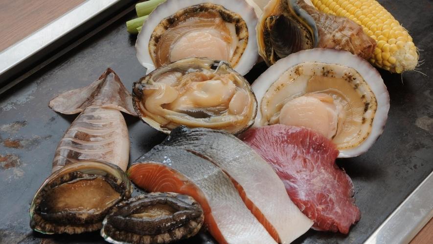 ■隣接の寿司処【二海庵】の海鮮鉄板浜焼のイメージ(料金別途)