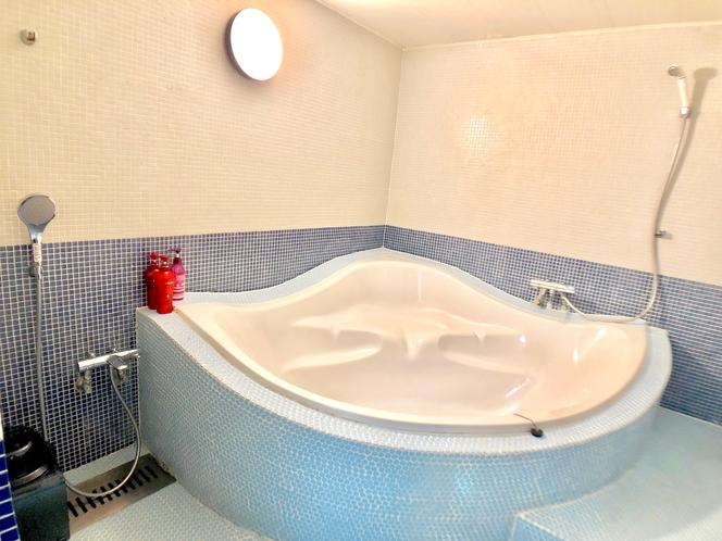 シャワー2つの大きな浴場!デラックスダブルルームマッサージチェア付き