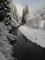 久多川の雪景色