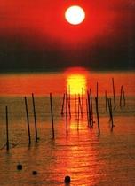 真玉の夕日