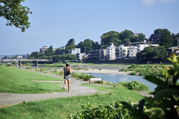 犀川沿い / ランニング / ホテルから徒歩5分