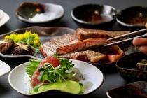 鹿児島県産黒毛和牛ステーキコースのお肉(A4ランク!)