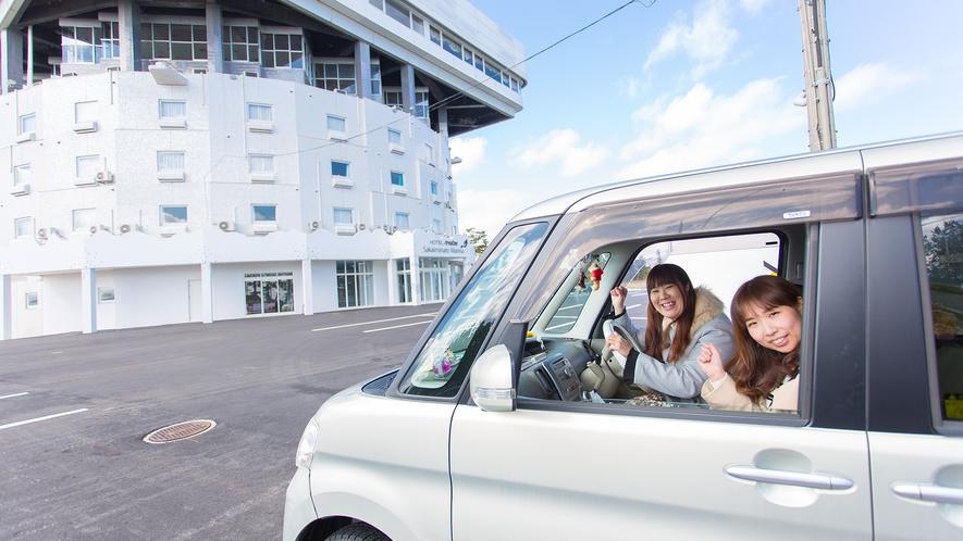 【ホテル外観】到着!!エリアワン境港マリーナ