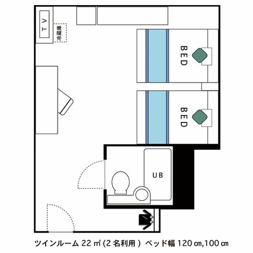 間取図(ツインルーム)