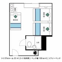 間取図(トリプルルーム)