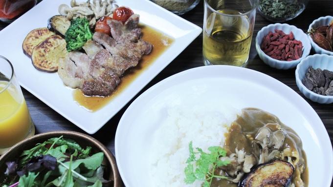 ★二食付き・松★県産ポークのステーキとこだわりの薬膳カレーも嬉しい『スペシャルディナー』で贅沢に♪