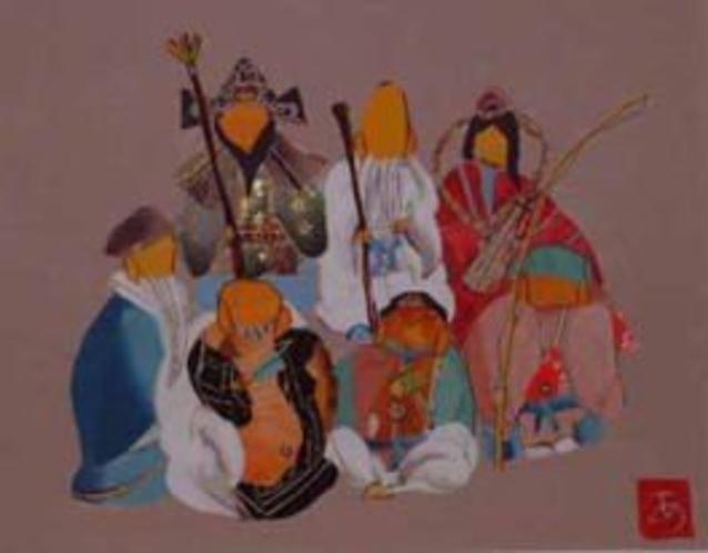 日本伝統工芸裂画(七福神)
