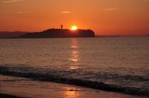 江ノ島の朝日