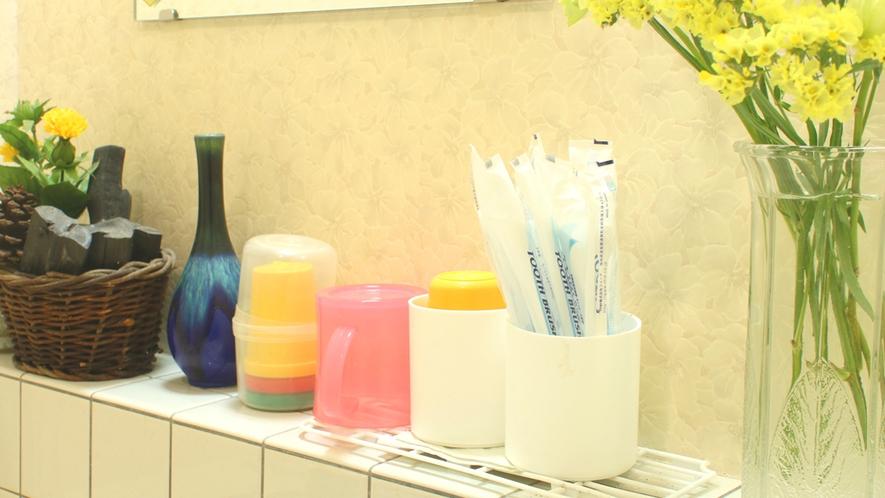 歯ブラシセットは、共同洗面所にございます