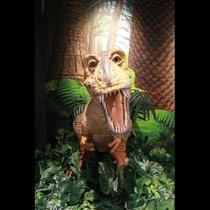 恐竜がお出迎え!