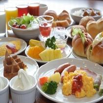 朝食バイキング料理 -洋食中心のセレクト一例-