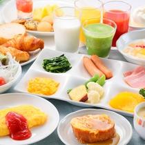 あがらんしょ朝食バイキング一例(洋食)