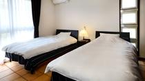 ≪1棟≫ベッドルーム ふかふかのベッドがあなたを包み込みます