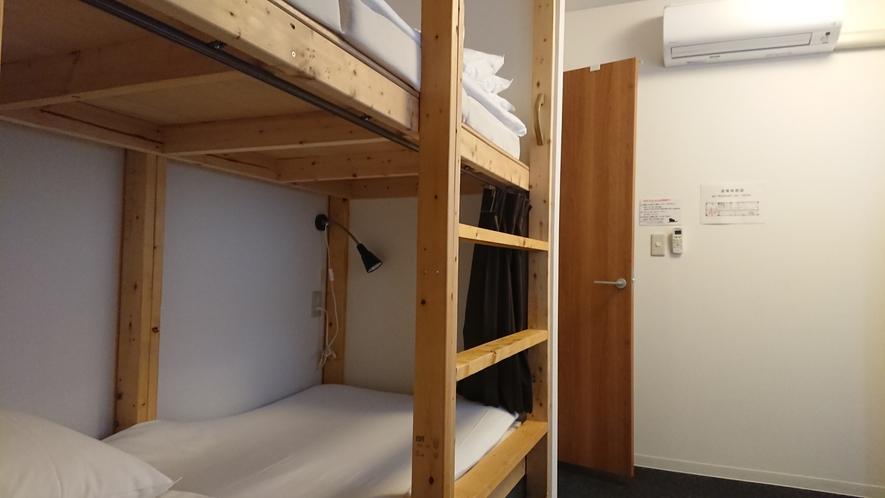 自慢のドミトリールームのベッド②