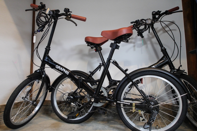 自転車2台を無料で貸出します