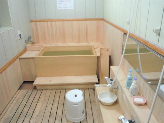 1泊2食4800円(税別) 新しい檜風呂とおふくろの味でおもてなし