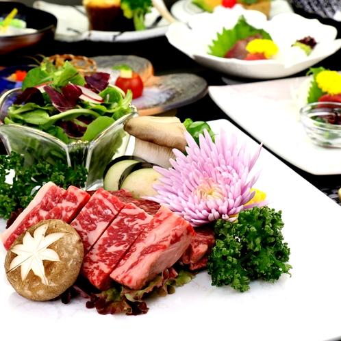 人気プランの熊本ブランド牛ステーキ。ジューシーな深い味わいをお愉しみください。