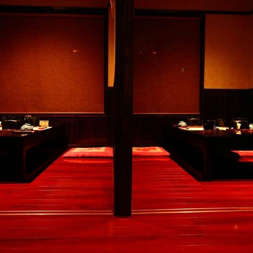 お食事処【満月】半個室。光と影の調和をお愉しみください