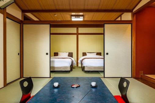 露天風呂付客室14畳「網野」(ベッド付二間続き・琵琶湖側)