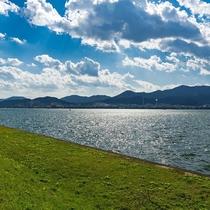 琵琶湖岸を散歩