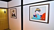 舞妓と芸者の絵画
