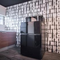 連泊に役立つ冷蔵庫と電子レンジ