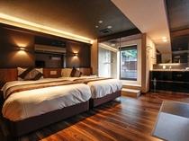 【◆ジュニアスイート◆(露天風呂付客室)44平米「和モダン」をテーマに統一された和洋室