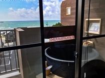 客室露天風呂からの眺望 ※一例