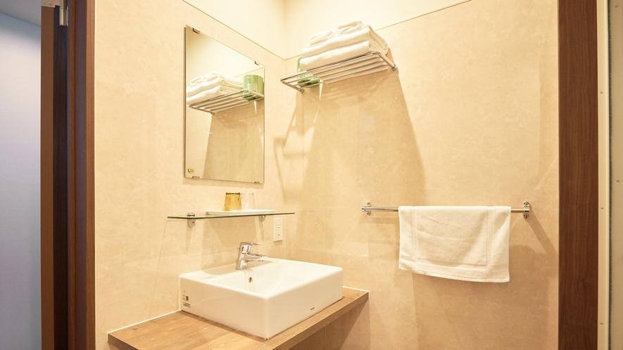 【寛楽ツインルーム】洗面所