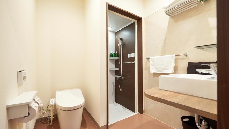 【ツインルーム】洗面所・シャワーブース