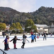 【コアやまくに】冬はスケートリンクでも遊べますよ♪