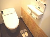 お手洗いは、宿泊階に2つご用意しています。
