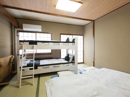 【禁煙】和室2段ベッドタイプ4人部屋