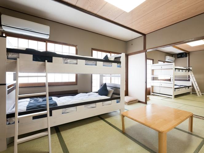 和室2段ベッドタイプ8人部屋