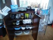 お食事処には貸出用の食器をたくさんご用意しております!