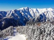 新穂高ロープウェイから真冬の眺望
