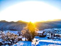 真冬の流葉の景色