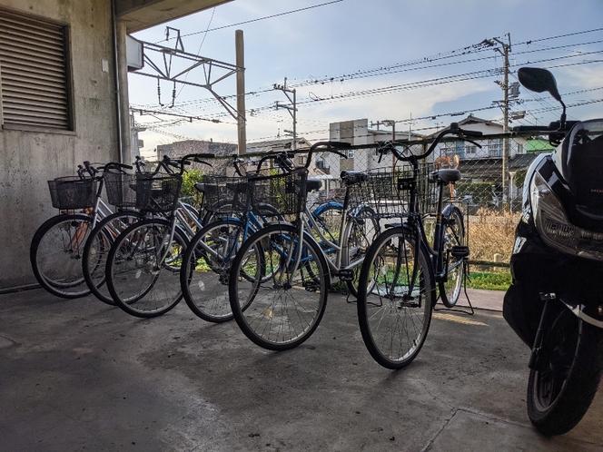 自転車無料貸出してます。