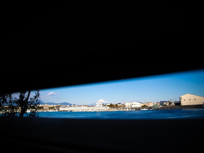 用宗みなと温泉 富士見小屋からの眺め