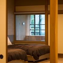 露天風呂付き特別室ベッドルーム