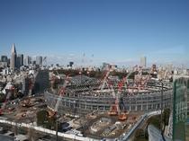 スイートルームから見た新国立競技場
