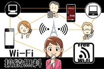【Wi-Fi接続可能】 全部屋Wi-Fi接続が無料でご利用いただけます。
