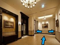 ⑤玄関をお進みいただくと2基エレベーターがございます。
