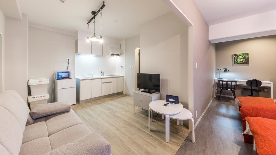 ジュニアスイートK キッチン・リビング完備で自宅のようにくつろげるお部屋