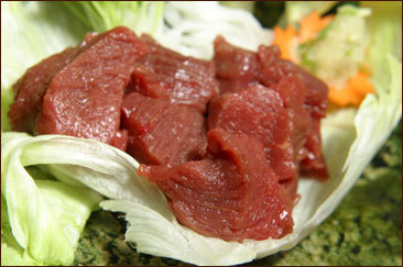 贅沢な味覚の上質な馬刺しヒレ肉