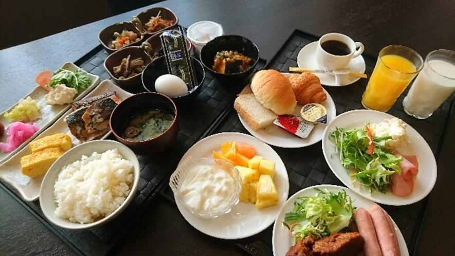 おいしいお米と当日一品の朝食バイキング