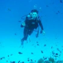 透き通る沖縄の海でダイビング♪
